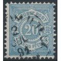 WÜRTTEMBERG - 1890 25pf grey-turquoise Numeral in Circle, used – Michel # 47b