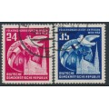 EAST GERMANY / DDR - 1952 World Peace Congress set of 2, used – Michel # 320-321