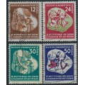 EAST GERMANY / DDR - 1951 Youth Winter Games set of 4, used – Michel # 289-292