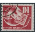 EAST GERMANY / DDR - 1950 84+41pf dark brownish red DEBRIA Stamp Exhibition, used – Michel # 260