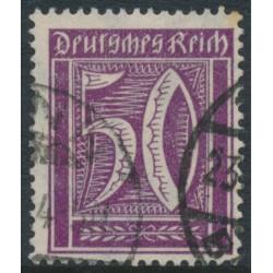 GERMANY - 1922 50pfg violet Numeral, network watermark, geprüft, used – Michel # 183