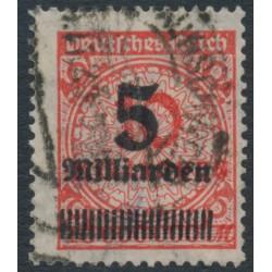 GERMANY - 1923 5Milliarden on 10Millionen Mk orange-red Numeral, geprüft, used – Michel # 334A