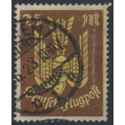 GERMANY - 1923 25Mk brown/yellow Wood Pigeon airmail, geprüft, used – Michel # 236
