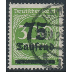 GERMANY - 1923 75Tausend on 300Mk yellow-green Numeral, geprüft, used – Michel # 286