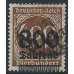 GERMANY - 1923 800Tausend on 400Mk brown Numeral, geprüft, used – Michel # 305