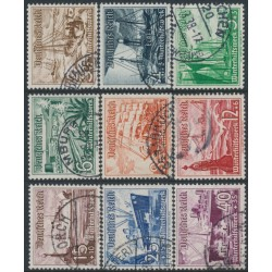 GERMANY - 1937 Ships and Boats set of 9, used – Michel # 651-659