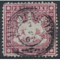 WÜRTTEMBERG - 1861 9Kr lilac-carmine Coat of Arms, perf. 13½ on thin paper, used – Michel # 19yb