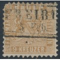 BADEN - 1862 9Kr yellow-brown Coat of Arms, perf. 10, used – Michel # 15b
