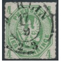 PREUßEN - 1861 4pf olive-green Eagle, rouletted, used – Michel # 14b