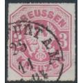 PREUßEN - 1867 3Kr rose-carmine Eagle, rouletted, used – Michel # 24