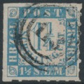 SCHLESWIG-HOLSTEIN - 1864 1¼S grey-ultramarine on pale rose Numeral, rouletted, used – Michel # 7