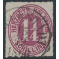 SCHLESWIG-HOLSTEIN - 1866 1¼S dark brownish lilac Numeral, rouletted, used – Michel # 22