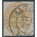 SCHLESWIG-HOLSTEIN - 1865 4S brown-ochre Numeral, rouletted, used – Michel # 25