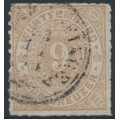 WÜRTTEMBERG - 1873 9Kr pale yellow-brown Numeral in Oval, rouletted, used – Michel # 40a