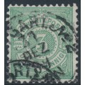 WÜRTTEMBERG - 1889 3pf green Numeral in Circle, perf. 11½:11, used – Michel # 44ba