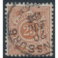 WÜRTTEMBERG - 1882 25pf brown-orange Numeral in Circle, perf. 11½:11, used – Michel # 48a