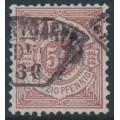 WÜRTTEMBERG - 1890 50pf brown-red Numeral in Circle, perf. 11½:11, used – Michel # 58