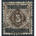 WÜRTTEMBERG - 1919 3pf dark orange-brown Numeral, Volkstaat Württemberg o/p, used – Michel # 135