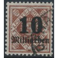 WÜRTTEMBERG - 1923 10Milliarden on 3M deep yellow-brown Numeral, used – Michel # 183