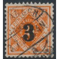 WÜRTTEMBERG - 1923 3 on 25pf red-orange Numeral, used – Michel # 184