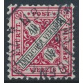 WÜRTTEMBERG - 1905 40pf deep rose-red/black Numerals in Shields Official, used – Michel # 216b