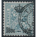 WÜRTTEMBERG - 1906 2pf deep turquoise-grey Numerals, Centenary overprint, used – Michel # 217
