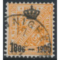 WÜRTTEMBERG - 1906 25pf orange Numerals, Centenary overprint, used – Michel # 222