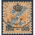 WÜRTTEMBERG - 1906 30pf orange/black Numerals, Centenary overprint, used – Michel # 223