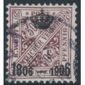 WÜRTTEMBERG - 1906 50pf deep red-brown Numerals, Centenary overprint, used – Michel # 225