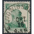 WÜRTTEMBERG - 1916 30pf dark green King Wilhelm II Jubilee, used – Michel # 247