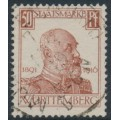 WÜRTTEMBERG - 1916 50pf dark brown-orange King Wilhelm II Jubilee, used – Michel # 249