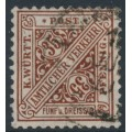 WÜRTTEMBERG - 1919 35pf deep yellow-brown Numerals in Shields Official, used – Michel # 256