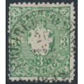 SACHSEN - 1863 3pf green Coat of Arms, used – Michel # 14a