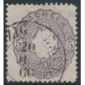 SACHSEN - 1866 5NGr grey-violet Coat of Arms, used – Michel # 19b