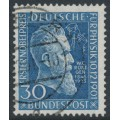 WEST GERMANY - 1951 30pf blue Wilhelm Röntgen, used – Michel # 147
