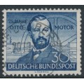 WEST GERMANY - 1952 30pf blue Nikolaus Otto, used – Michel # 150