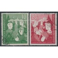 WEST GERMANY - 1952 Youth Hostels set of 2, used – Michel # 153-154