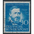 WEST GERMANY - 1952 30pf blue Anniversary of the Telephone, used – Michel # 161