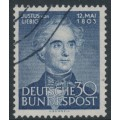 WEST GERMANY - 1953 30pf blue Justus von Liebig, used – Michel # 166