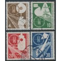 WEST GERMANY - 1953 Traffic Exhibition set of 4, used – Michel # 167-170