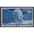 WEST GERMANY - 1949 30pf blue Anniversary of the UPU, used – Michel # 116