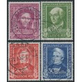 WEST GERMANY - 1949 Helfer der Menschheit Welfare set of 4, used – Michel # 117-120