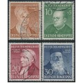 WEST GERMANY - 1952 Helfer der Menschheit Welfare set of 4, used – Michel # 156-159