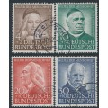 WEST GERMANY - 1953 Helfer der Menschheit Welfare set of 4, used – Michel # 173-176