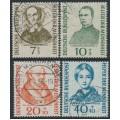 WEST GERMANY - 1955 Helfer der Menschheit Welfare set of 4, used – Michel # 222-225