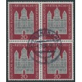 WEST GERMANY - 1956 20pf deep brown-red Maria Laach in a block of 4, used – Michel # 238