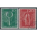 WEST GERMANY - 1955 Westropa '55 Stamp Exhibition set of 2, used – Michel # 217-218