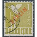 WEST BERLIN - 1949 1Mk brown-olive Dove overprinted BERLIN in red, used – Michel # 33
