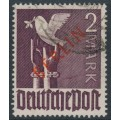 WEST BERLIN - 1949 2Mk deep violet-brown Dove overprinted BERLIN in red, used – Michel # 34