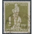 WEST BERLIN - 1949 1Mk grey-olive UPU Anniversary, used – Michel # 40